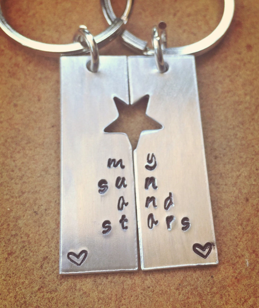You're My Person, Boyfriend Gift, My Sun And My Stars, Hand Stamped Keychain, Personalized Keychain, Boyfriend Gift
