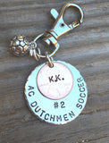 Soccer Gift, Sport Team Gift, High School Sports Keychain, Volleyball Keychain, Personalized High School Sport Keychain, Football - Natashaaloha, jewelry, bracelets, necklace, keychains, fishing lures, gifts for men, charms, personalized,
