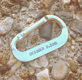 Personalized Carabiner - Natashaaloha, jewelry, bracelets, necklace, keychains, fishing lures, gifts for men, charms, personalized,