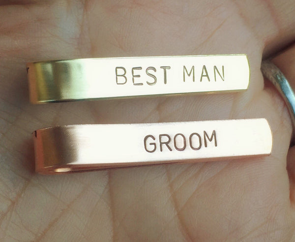 Tie Bar, Boyfriend Gift, Christmas Gift Dad, Personalized Tie Bar,Groomsmen Gifts, Hand Stamped Tie Bars, natashaaloha
