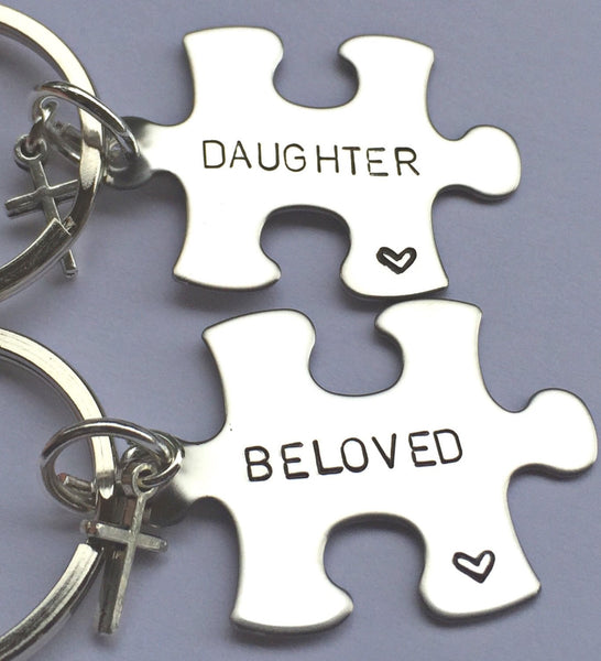 Mother Daughter Gifts,  Mother Daughter Keychain, Personalized Keychains, Valentine Gifts, natashaaloha - Natashaaloha, jewelry, bracelets, necklace, keychains, fishing lures, gifts for men, charms, personalized,