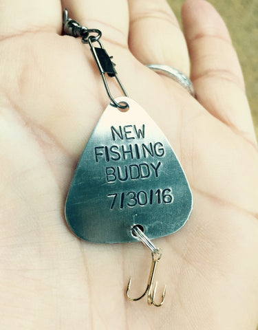 Fishing Lure, Daddys New Fishing Buddy Lure, Boyfriend Gift, Personalized Fishing Lure, natashaaloha, Boyfriend Gift, Valentine Men - Natashaaloha, jewelry, bracelets, necklace, keychains, fishing lures, gifts for men, charms, personalized,