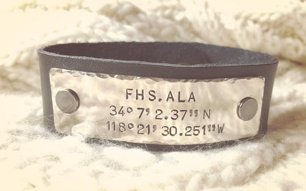 Personalized Motocross Leather Bracelet