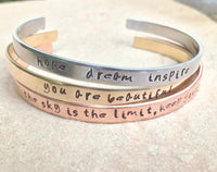 Positive Cuff Bracelets, Christmas Gifts Women, Personalized - Natashaaloha, jewelry, bracelets, necklace, keychains, fishing lures, gifts for men, charms, personalized,