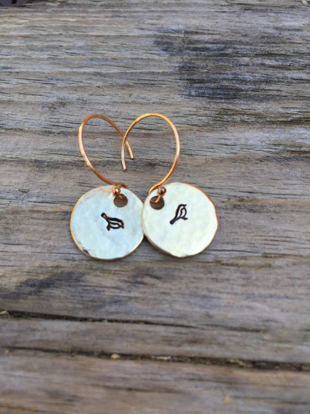 Yoga Earrings, Arrow Earrings, Bird Earrings, Handmade Earrings, Graduation Gifts, Hammered Earrings, Mothers Day Gifts, Natashaaloha