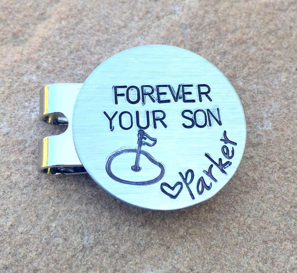 Golf Marker, Kick Putt Dad, Boyfriend Gifts, Golf Gifts, Husband Gift, Personalized Golf Marker, Hat Clip, Gifts for Dad, natashaaloha - Natashaaloha, jewelry, bracelets, necklace, keychains, fishing lures, gifts for men, charms, personalized,