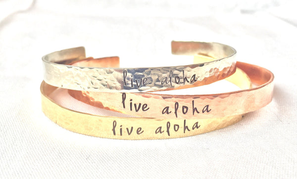 Live Aloha, Live Aloha Bracelet, Hawaiian Jewelry, Graduation Gift, Mother's Day Gift, natashaaloha, Beach Bracelets - Natashaaloha, jewelry, bracelets, necklace, keychains, fishing lures, gifts for men, charms, personalized,