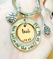 She Believed She Could So She Did, Sports Gifts, Team Gifts, Graduation Music, graduation 2016, Personalized Graduation Gifts,natashaaloha - Natashaaloha, jewelry, bracelets, necklace, keychains, fishing lures, gifts for men, charms, personalized,