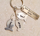 Daddys #1 Fishing Buddies, Hooked On Dad, Fishing Keychain - Natashaaloha, jewelry, bracelets, necklace, keychains, fishing lures, gifts for men, charms, personalized,