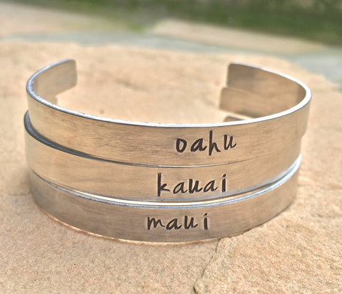 Hawaiian Jewelry, Maui Bracelet, Kauai Bracelet, Oahu Bracelet - Natashaaloha, jewelry, bracelets, necklace, keychains, fishing lures, gifts for men, charms, personalized,