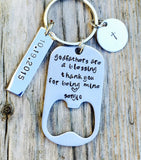 Godfather Keychain, Personalized - Natashaaloha, jewelry, bracelets, necklace, keychains, fishing lures, gifts for men, charms, personalized,