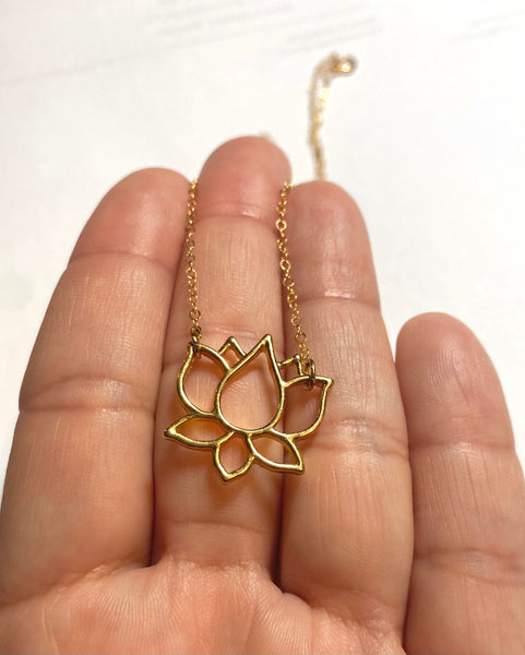 Yoga Jewelry, Yoga Necklace, Lotus Flower Jewelry, Natashaaloha