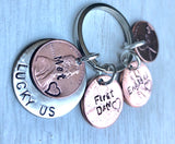 Personalized Penny Keychains - Natashaaloha, jewelry, bracelets, necklace, keychains, fishing lures, gifts for men, charms, personalized,