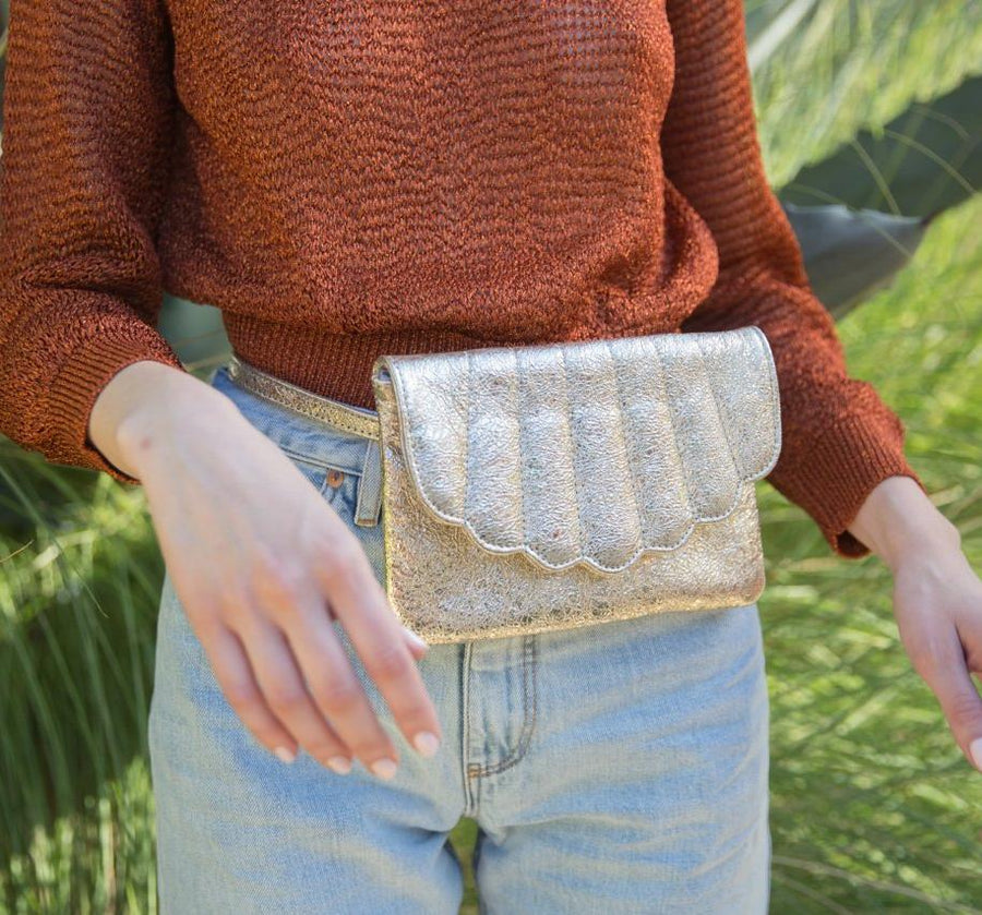 Shell Fanny Pack - Gold