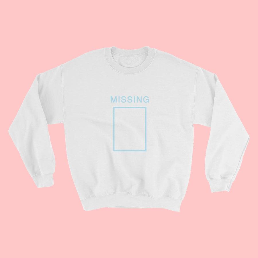 Missing Crewneck Sweatshirt - White