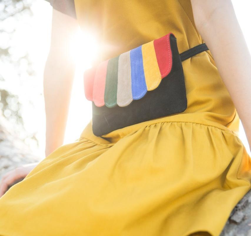 Shell Fanny Pack - Rainbow