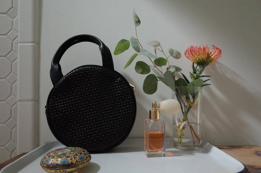 Mini Lisa Circle - Black Woven