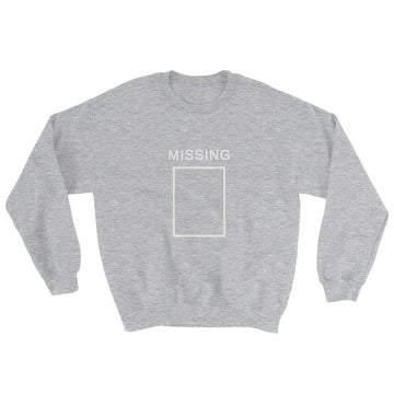 Missing Crewneck Sweatshirt - Heather Grey