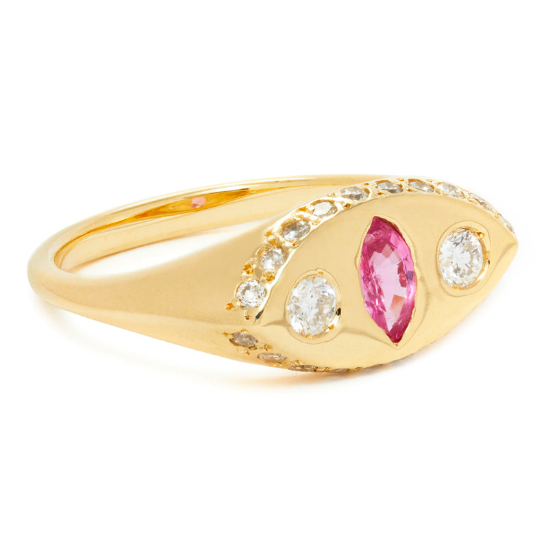 Makeda Ring with Ruby