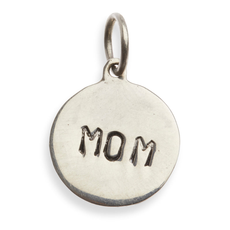 A Classic Silver 'MOM' Charm