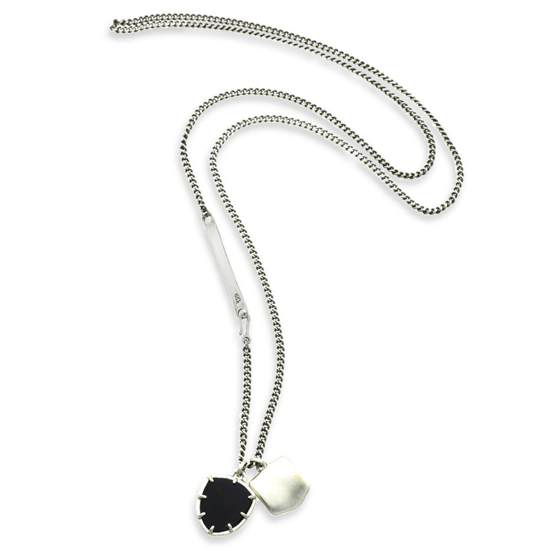 Shield Armory Necklace with Onyx