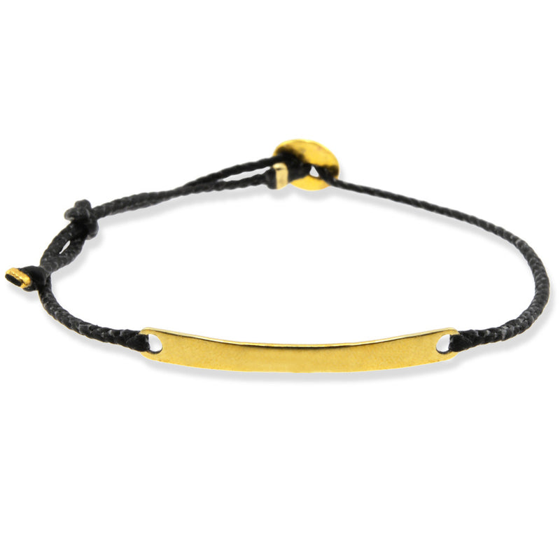 Adjustable Braided ID in Brass & Black
