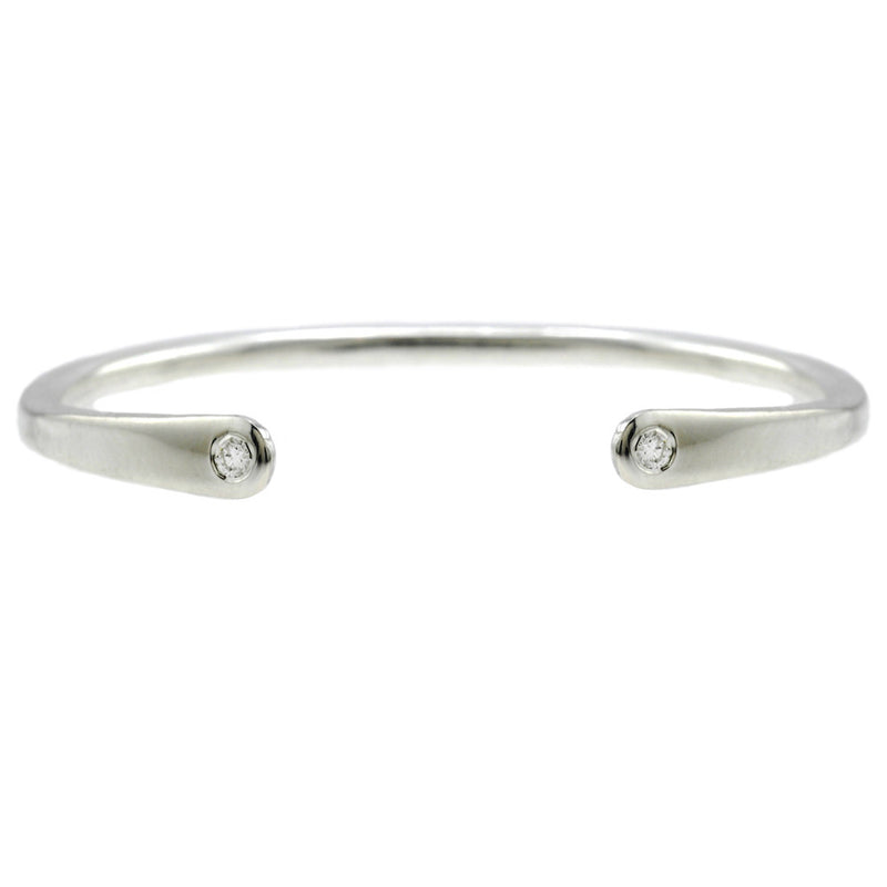 Open Baby Cuff: Diamond in Silver
