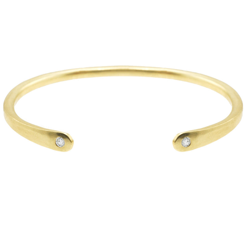 Open Baby Cuff: Diamond in Gold
