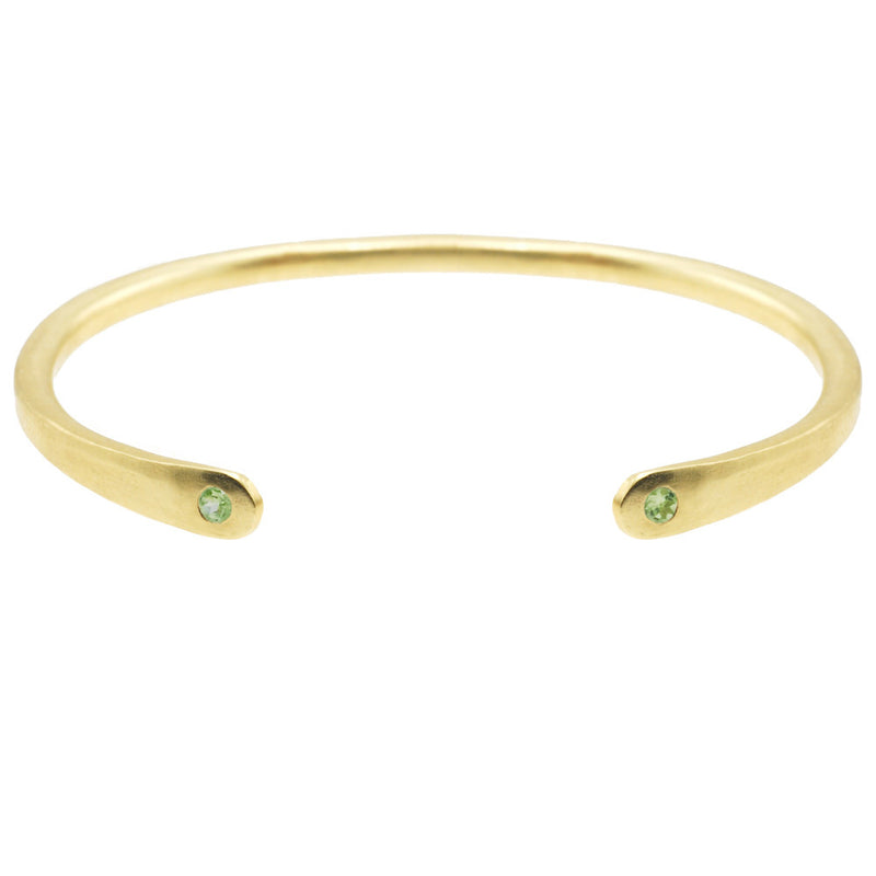 Open Baby Cuff: Peridot in Gold