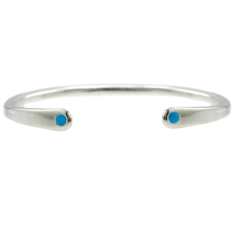 Open Baby Cuff: Turquoise in Silver