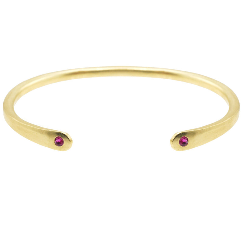 Open Baby Cuff: Ruby in Gold