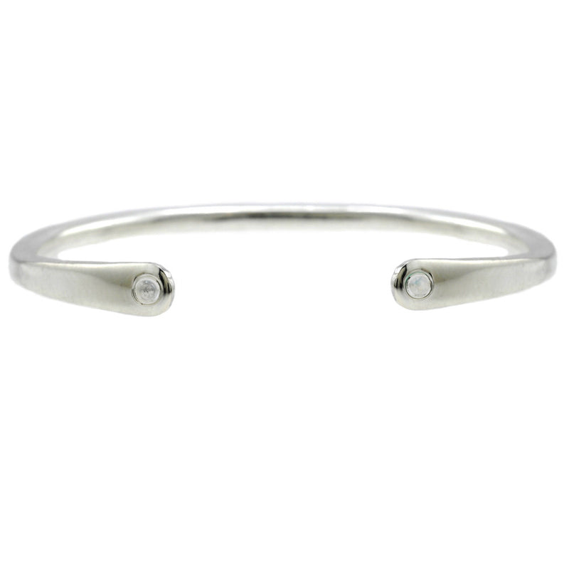 Open Baby Cuff: Moonstone in Silver