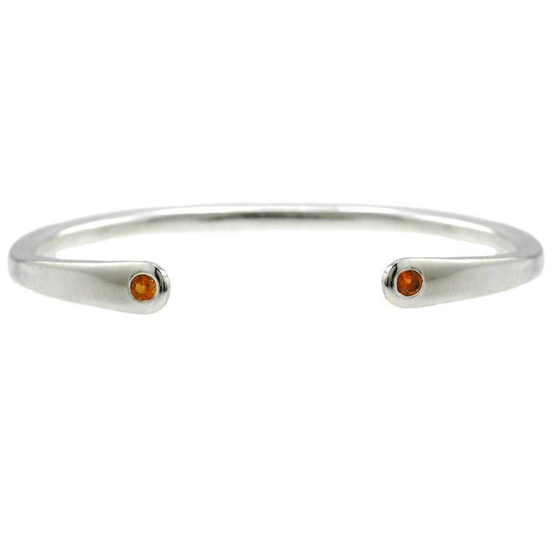 Open Baby Cuff: Citrine in Silver