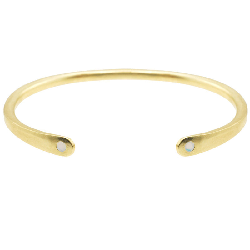Open Baby Cuff: Opal in Gold