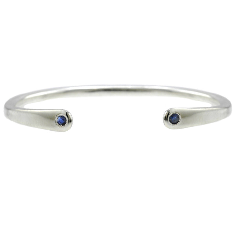 Open Baby Cuff: Sapphire in Silver