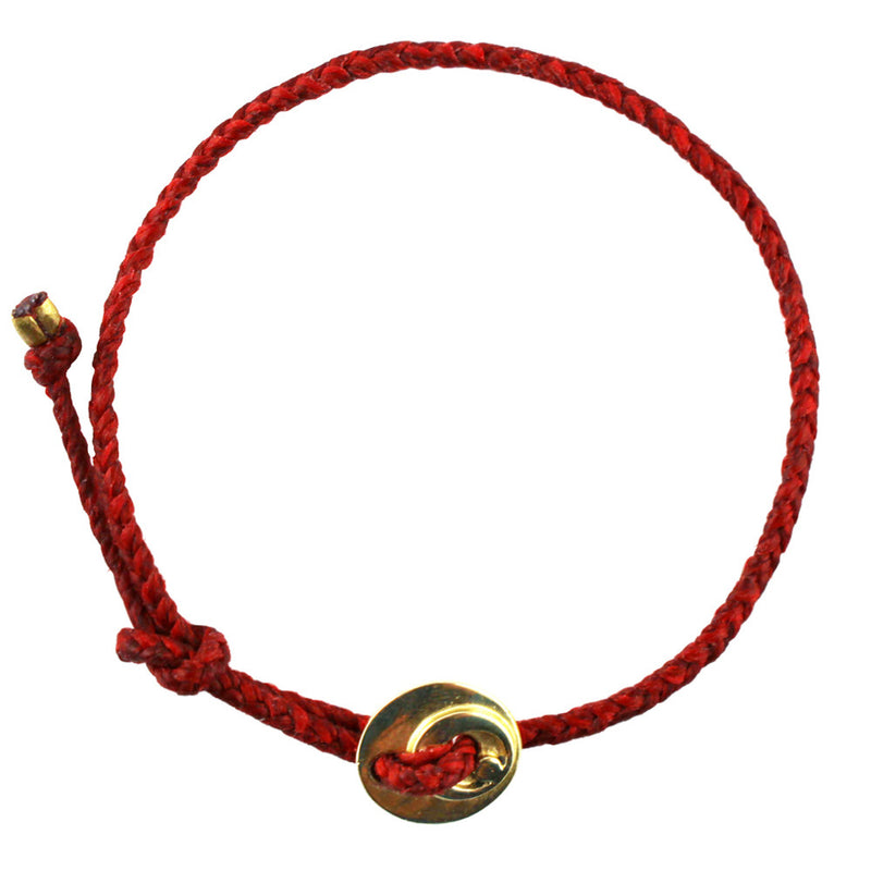 Circle of Health Bracelet in Brass and Red