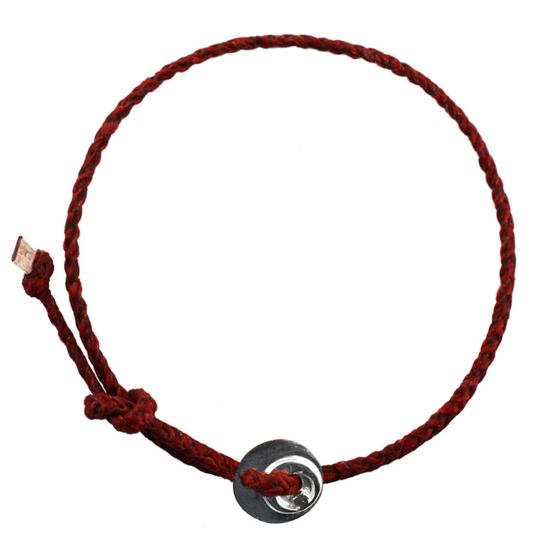 Circle of Health Bracelet in Silver and Red