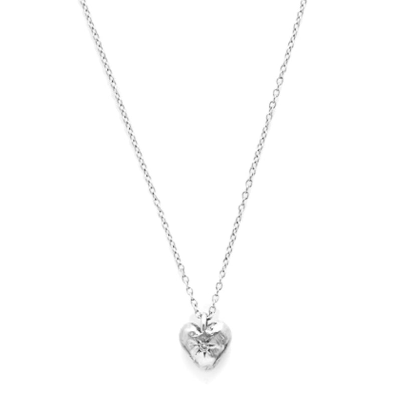 Classic Heart Necklace in Silver
