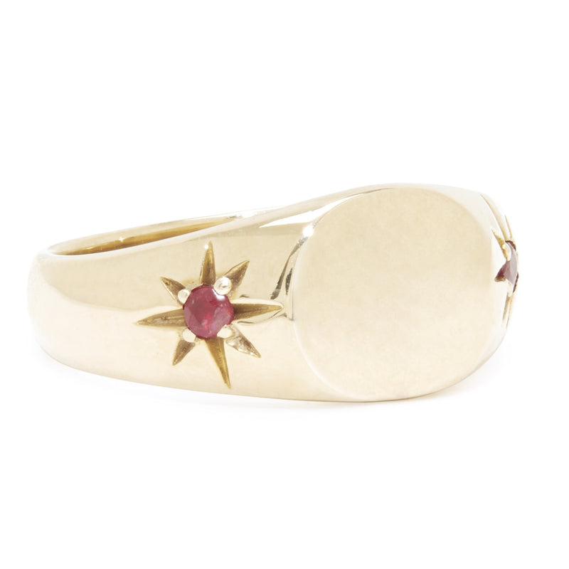 Classic Pinky Signet Ring in Brass