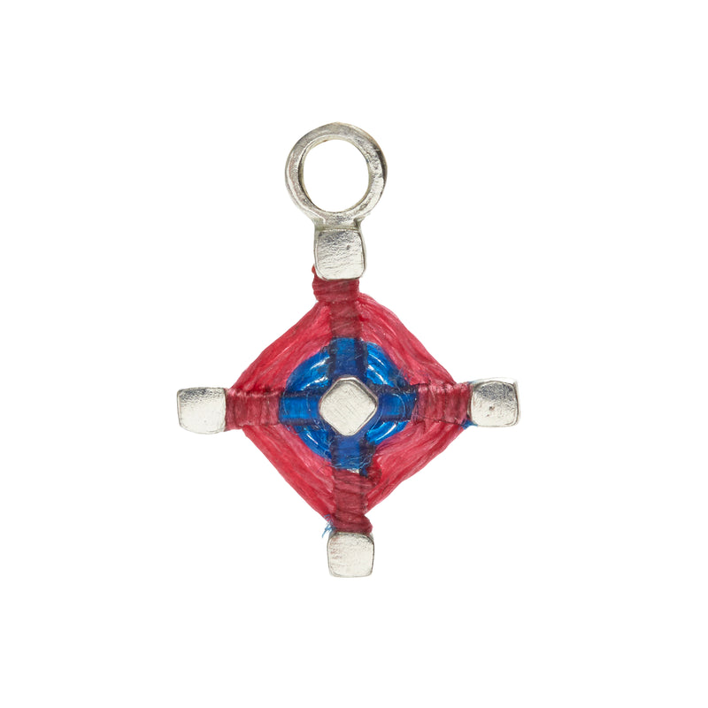 God's Eye Earring Charm in Cobalt and Hot Pink