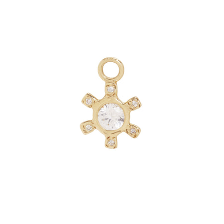 Pinwheel Charm with White Sapphire