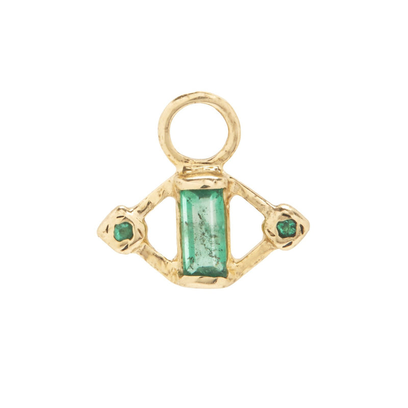 Kite Charm with Emeralds