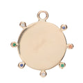 Soleil Disc Charm in Gold and Mixed Stones