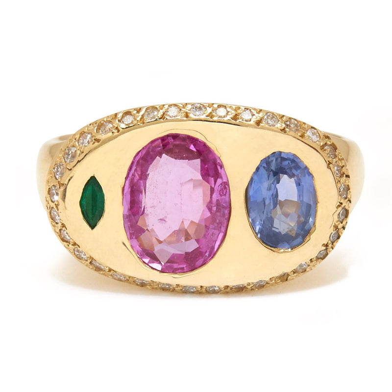 Nandi Ring with Pink Sapphire
