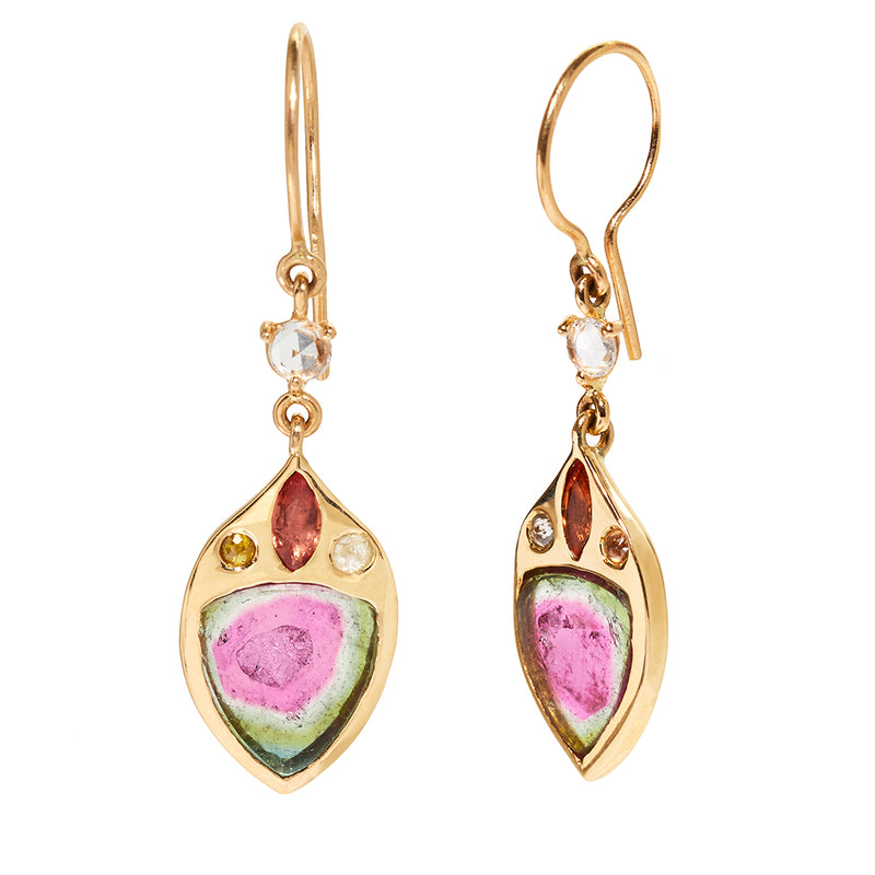 Evita Earrings with Tourmaline