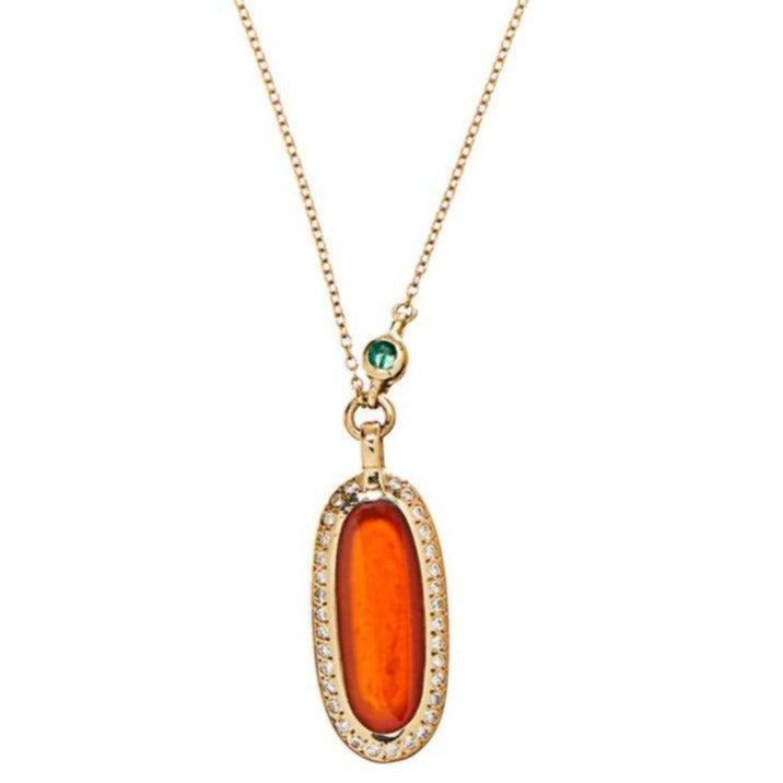 Simone Pendant Necklace with Carnelian