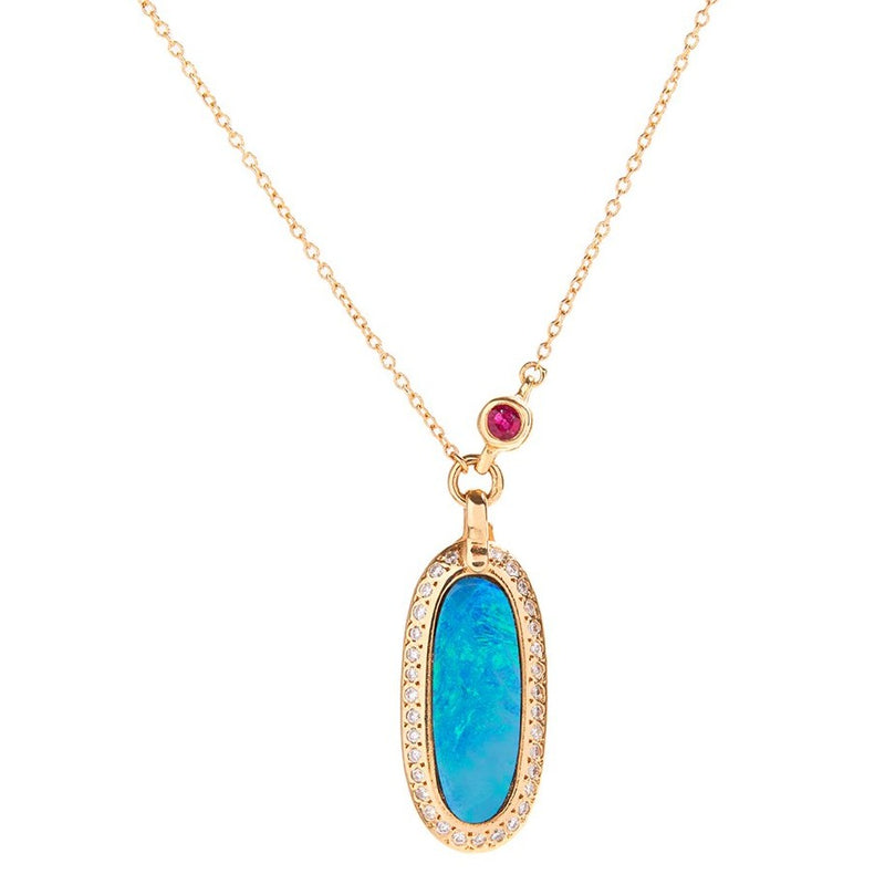 Simone Pendant Necklace with Opal