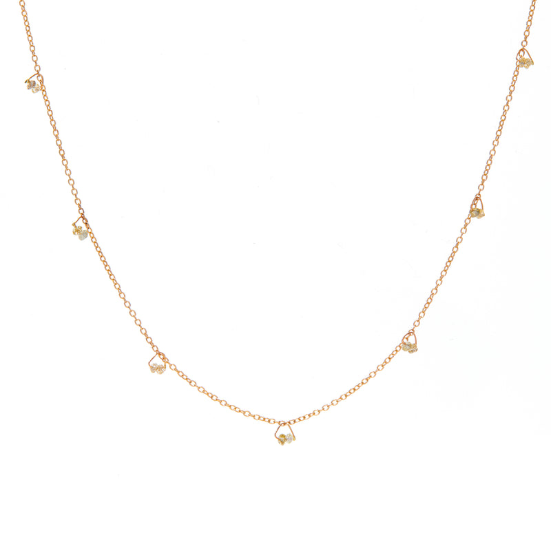 Diamond Bead Chain Necklace