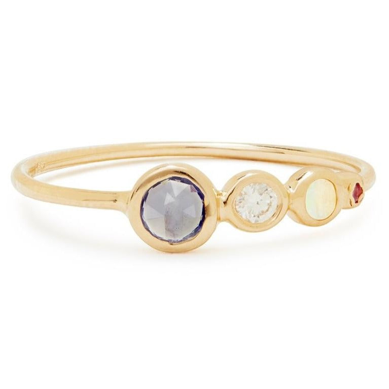 Jackie Ring with Mixed Stones
