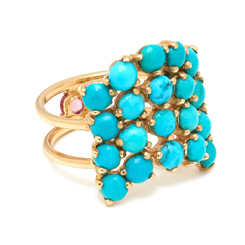 Indirissima Ring with Turquoise